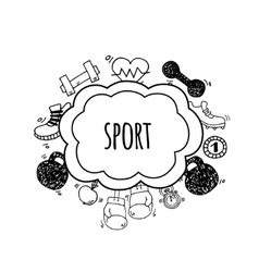 Sport bubbles white and black vector
