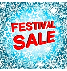 Big winter sale poster with festival sale text vector
