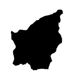 black silhouette country borders map of san vector image