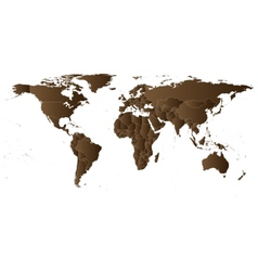 Brown Political World Map vector image vector image