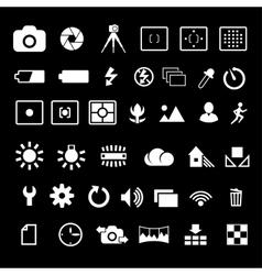 Camera settings icon vector image vector image