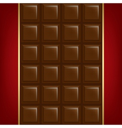 Chocolate Background With Golden Line vector image vector image