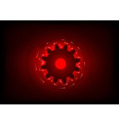 cogwheel on the red background vector image vector image