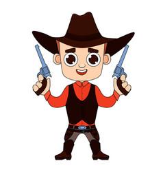 cowboy print for t-shirt vector image