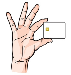 Credit Card in Hand vector image