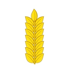 Ear of wheat icon in cartoon style vector image