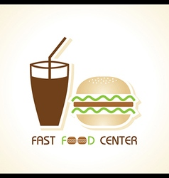 Fast food center stock vector