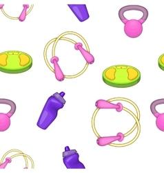 Fitness pattern cartoon style vector image