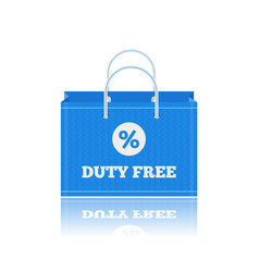 Flat icon of duty free shopping bags at vector