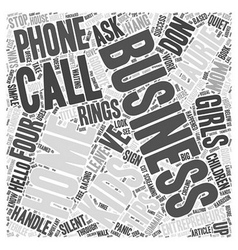 Four tips for at home business call success word vector