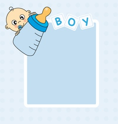 Frame baby boy vector