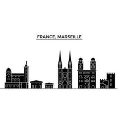 France marseille architecture city skyline vector