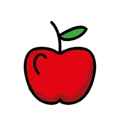 fresh apple isolated icon design vector image