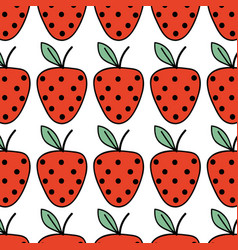 Fresh strawberry fruit and organ food background vector