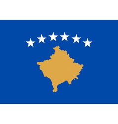 Kosovan flag vector image vector image