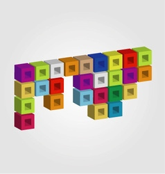 Logo with colorful cubes vector