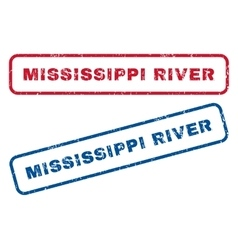 Mississippi River Rubber Stamps vector image vector image