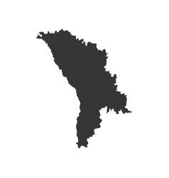 Moldova map silhouette vector