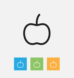 Of meal symbol on apple vector