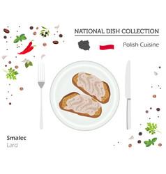 Polish cuisine european national dish collection vector