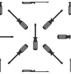 screwdriver icon seamless pattern on white vector image