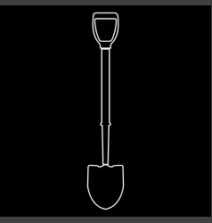 shovel white color path icon vector image vector image