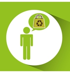 Symbol recycle bag design vector