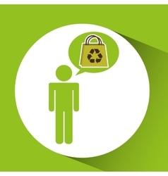symbol recycle bag design vector image vector image