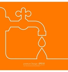 the faucet line vector image