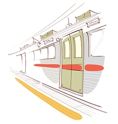 Train interior vector