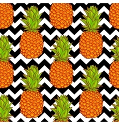 Tropical Pineapples Background vector image vector image