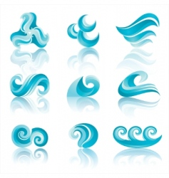 Water icons vector