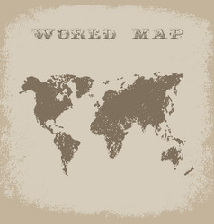 world map in antique style vector image