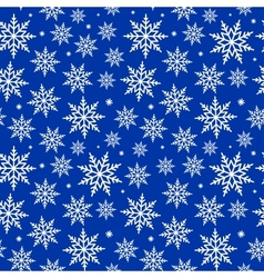 Seamless snowflakes background pattern vector