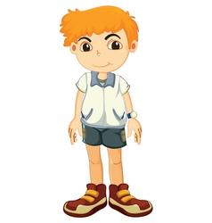 a boy vector image