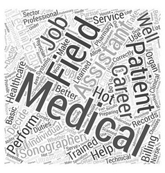 medical field careers Word Cloud Concept vector image
