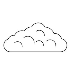 Wet cloud icon outline style vector