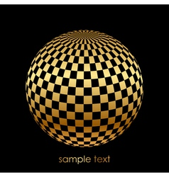 black and gold ball vector image