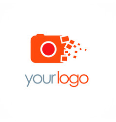 camera photo digital logo vector image