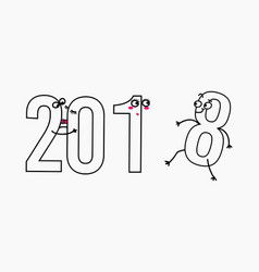 2018 new year for greeting card vector image vector image
