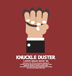 Knuckle duster in hand graphic vector