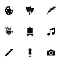 Art 9 icons set vector