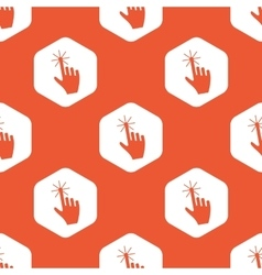 Orange hexagon hand cursor pattern vector
