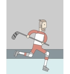 Hockey player man vector
