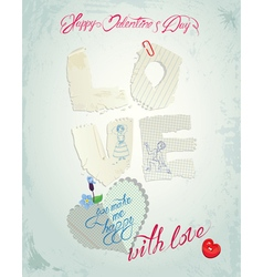 Love paper card 380 vector
