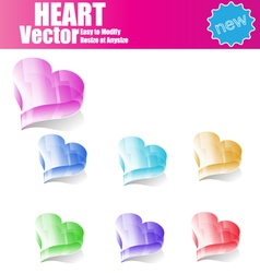 3d Glossy Heart vector image