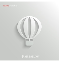 Air Balloon icon - web background vector image