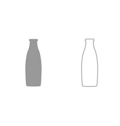 bottle grey set icon vector image vector image