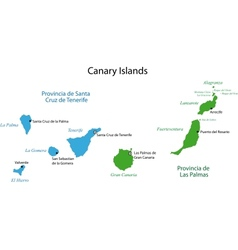 Canary islands map vector