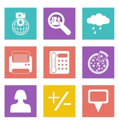 Color icons for web design set 49 vector